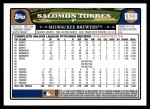 2008 Topps Updates #218  Salomon Torres  Back Thumbnail