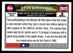 2008 Topps Updates #172  Evan Longoria  Back Thumbnail