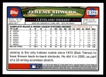 2008 Topps Updates #329  Jeremy Sowers  Back Thumbnail