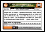 2008 Topps Updates #201  Travis Denker  Back Thumbnail