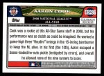2008 Topps Updates #286   -  Aaron Cook All-Star Back Thumbnail
