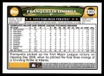 2008 Topps Updates #204  Franquelis Osoria  Back Thumbnail