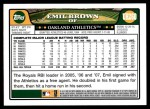 2008 Topps Updates #260  Emil Brown  Back Thumbnail