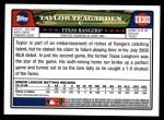 2008 Topps Updates #303  Taylor Teagarden  Back Thumbnail