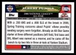 2008 Topps Updates #274   -  Albert Pujols All-Star Back Thumbnail