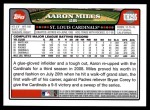 2008 Topps Updates #295  Aaron Miles  Back Thumbnail