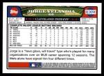 2008 Topps Updates #323  Jorge Velandia  Back Thumbnail