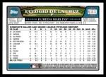 2008 Topps Updates #169  Eulogio De La Cruz  Back Thumbnail