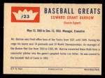 1960 Fleer #23  Ed Barrow  Back Thumbnail