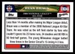 2008 Topps Updates #245  Ryan Braun  Back Thumbnail