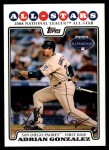 2008 Topps Updates #229   -  Adrian Gonzalez All-Star Front Thumbnail