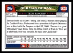 2008 Topps Updates #213  German Duran  Back Thumbnail