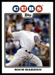 2008 Topps Updates #275  Rich Harden  Front Thumbnail