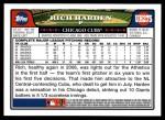 2008 Topps Updates #275  Rich Harden  Back Thumbnail