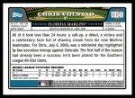 2008 Topps Updates #249  Chris Volstad  Back Thumbnail