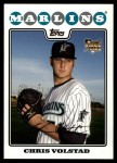 2008 Topps Updates #249  Chris Volstad  Front Thumbnail