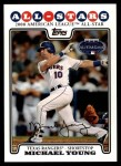 2008 Topps Updates #197   -  Michael Young All-Star Front Thumbnail