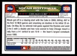 2008 Topps Updates #189  Micah Hoffpauir  Back Thumbnail
