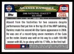 2008 Topps Updates #256   -  Aramis Ramirez All-Star Back Thumbnail