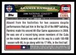 2008 Topps Updates #256   -  Aramis Ramirez All-Star Back Thumbnail