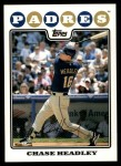 2008 Topps Updates #287  Chase Headley  Front Thumbnail