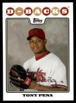 2008 Topps Updates #301  Tony Pena  Front Thumbnail