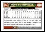 2008 Topps Updates #222  Dave Borkowski  Back Thumbnail