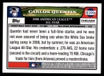 2008 Topps Updates #227   -  Carlos Quentin All-Star Back Thumbnail