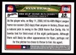 2008 Topps Updates #166  Ryan Braun  Back Thumbnail