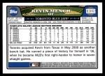 2008 Topps Updates #326  Kevin Mench  Back Thumbnail