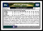 2008 Topps Updates #217  Willy Aybar  Back Thumbnail