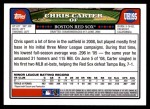 2008 Topps Updates #195  Chris Carter  Back Thumbnail