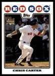 2008 Topps Updates #195  Chris Carter  Front Thumbnail