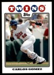 2008 Topps Updates #290  Carlos Gomez  Front Thumbnail