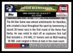 2008 Topps Updates #215   -  Josh Hamilton All-Star Back Thumbnail