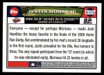 2008 Topps Updates #167  Justin Morneau  Back Thumbnail