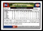 2008 Topps Updates #186  Wes Littleton  Back Thumbnail