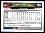 2008 Topps Updates #230  Jason Jennings  Back Thumbnail