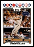 2008 Topps Updates #276   -  Corey Hart All-Star Front Thumbnail