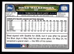 2008 Topps Updates #176  Brad Wilkerson  Back Thumbnail