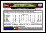2008 Topps Updates #223  Jeff Ridgway  Back Thumbnail