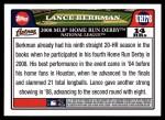 2008 Topps Updates #178  Lance Berkman  Back Thumbnail