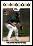 2008 Topps Updates #267  Gregorio Petit  Front Thumbnail