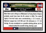 2008 Topps Updates #322   -  Edinson Volquez All-Star Back Thumbnail