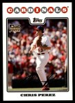 2008 Topps Updates #273  Chris Perez  Front Thumbnail