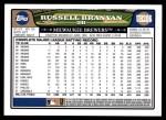 2008 Topps Updates #206  Russell Branyan  Back Thumbnail