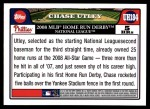 2008 Topps Updates #184  Chase Utley  Back Thumbnail