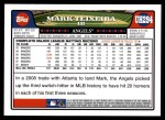 2008 Topps Updates #294  Mark Teixeira  Back Thumbnail