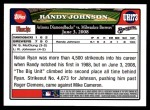 2008 Topps Updates #173   -  Randy Johnson  Highlights Back Thumbnail