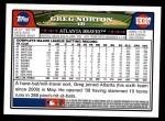 2008 Topps Updates #307  Greg Norton  Back Thumbnail